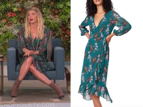 amanda kloots, the talk, green floral dress