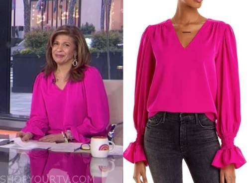 the today show, hoda kotb, hot pink top