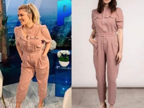carissa culiner, E! news, daily pop, pink denim jumpsuit