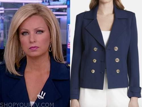 sandra smith, america reports, blue double breasted jacket