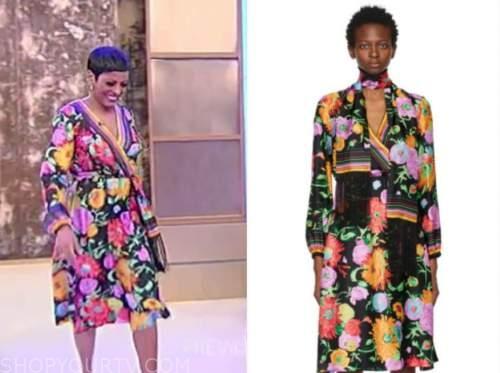 tamron hall, tamron hall show, floral wrap dress