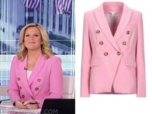 martha maccallum, america's newsroom, pink double breasted blazer