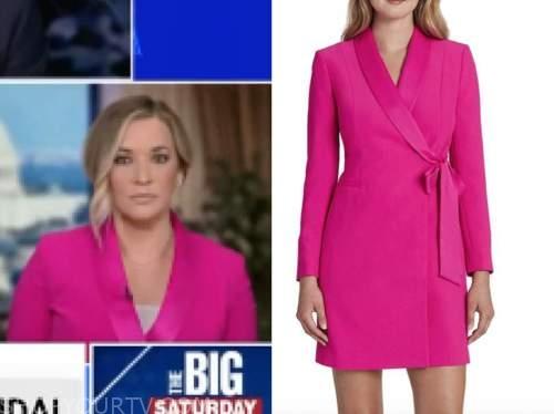 katie pavlich, the five, hot pink blazer dress