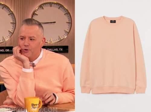 ross mathews, drew barrymore show, peach sweater