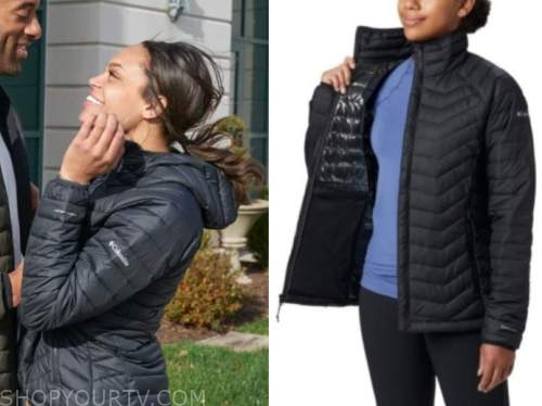 the bachelor, michelle young, black quilted jacket
