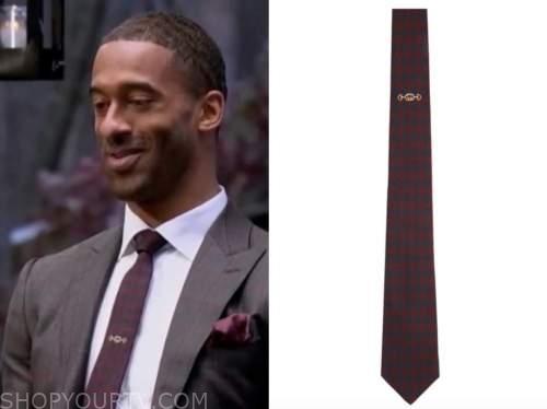 the bachelor, matt james, embroidered neck tie