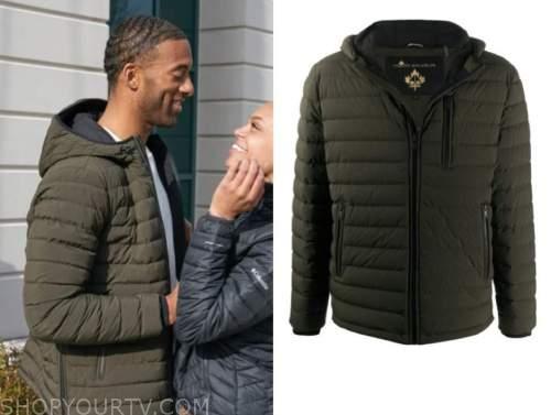 the bachelor, season 25, matt james, green quilted jacket