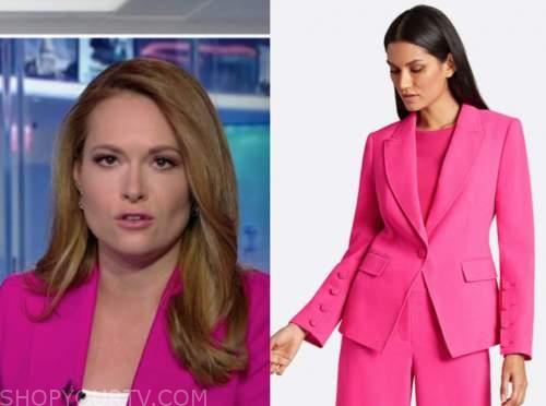 gillian turner, america's newsroom, hot pink blazer