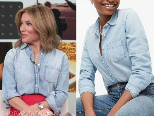 kit hoover, access daily, access hollywood, chambray denim shirt