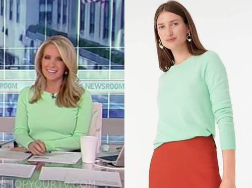 america's newsroom, dana perino, mint green sweater