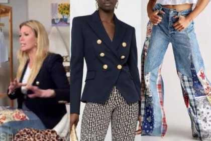 the today show, jill martin, blue blazer, patchwork jeans