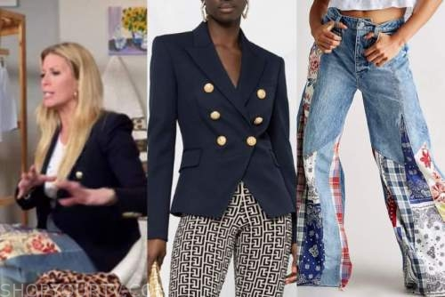 the today show, jill martin, blue blazer, patchwork jeans