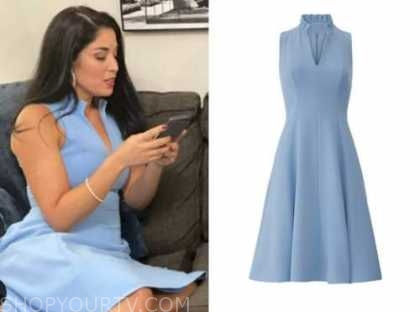 dr. viviana coles, married at first sight, light blue dress