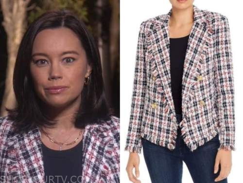 jo ling kent, the today show, tweed plaid fringe jacket