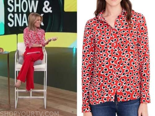 kit hoover, access daily, red heart print shirt