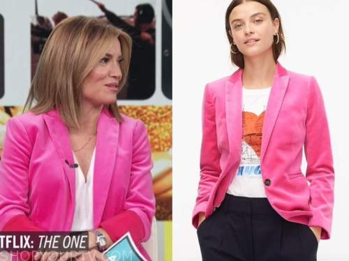 kit hoover, access hollywood, access daily, pink velvet blazer