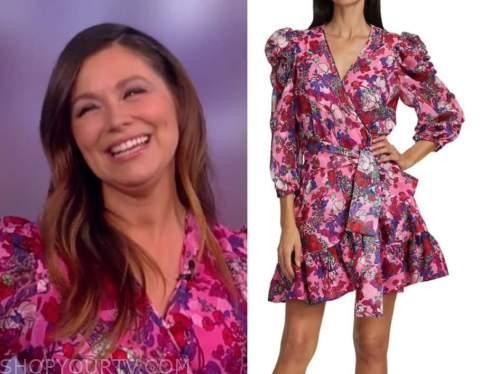 gretta monahan, the view, pink floral wrap dress