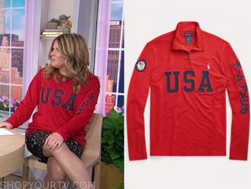 jenna bush hager, the today show, red usa pullover