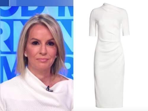 dr. jennifer ashton, white knit boatneck dress, good morning america