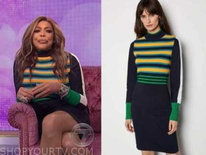 wendy williams, the wendy williams show, striped knit dress