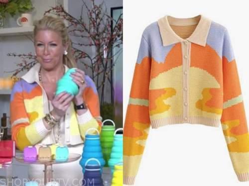 the today show, jill martin, colorblock cardigan sweater