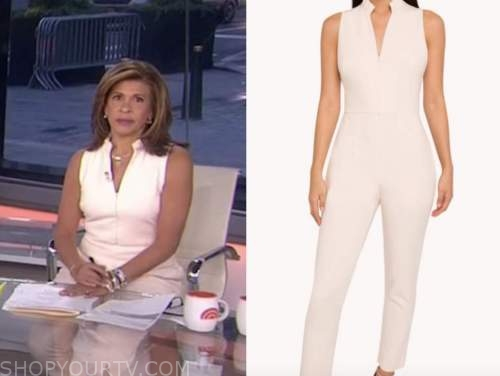 the today show, hoda kotb, blush pink ivory jumpsuit