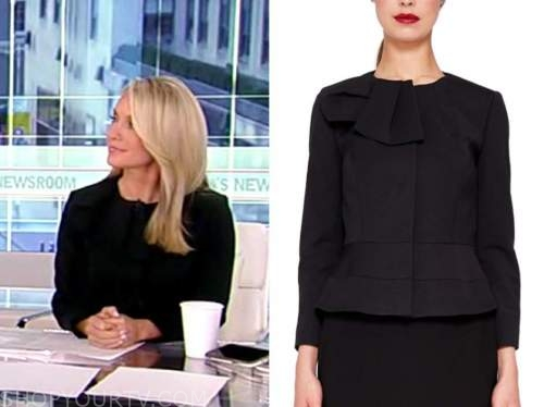 america's newsroom, black bow jacket, dana perino