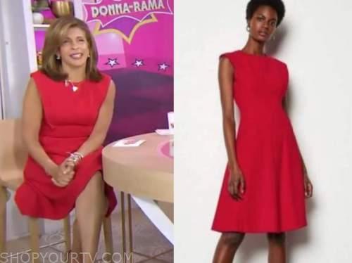 the today show, red dress, hoda kotb