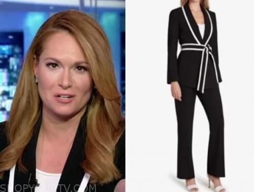 gillian turner, america's newsroom, black and white contrast trim jacket