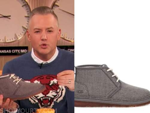ross mathews, drew barrymore show , grey boots