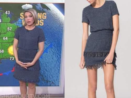 dylan dreyer, the today show, blue tweed fringe dress