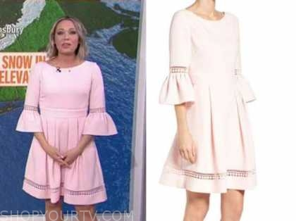 dylan dreyer, the today show, blush pink bell sleeve dress