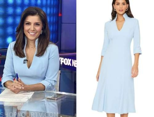 rachel campos duffy, fox news primetime, blue dress