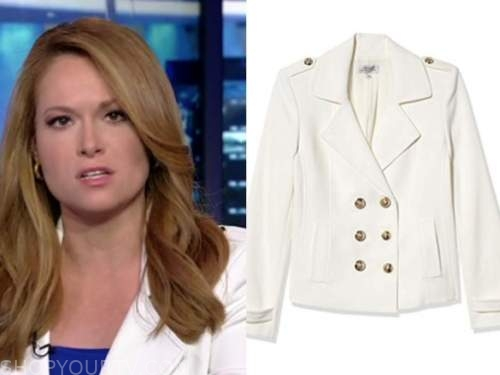 gillian turner, outnumbered, white double breasted jacket