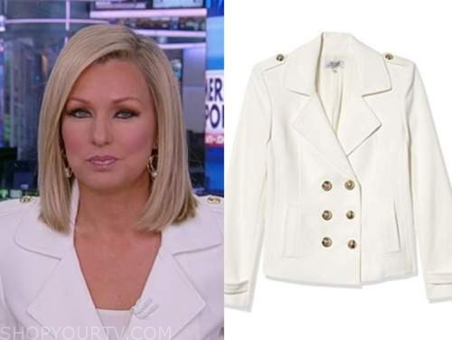 sandra smith, white doulbe breasted jacket, america reports