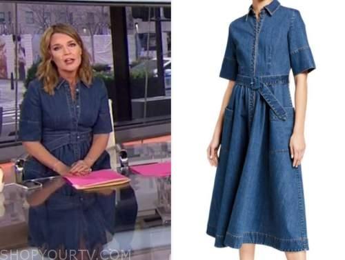 savannah guthrie, the today show, denim shirt dress