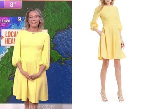 dylan dreyer, the today show, yellow dress