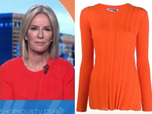 dr. jennifer ashton, good morning america, orange ribbed knit sweater top