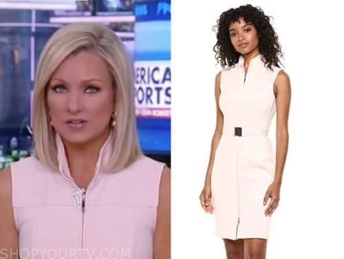 sandra smith, america reports, blush pink zip-front dress
