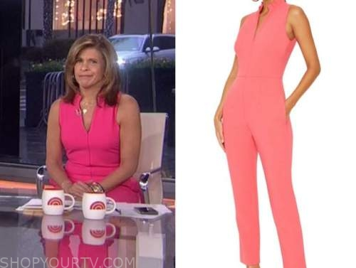 hoda kotb, the today show, pink jumpsuit