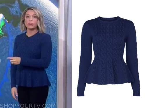 dylan dreyer, the today show, blue cable knit peplum sweater