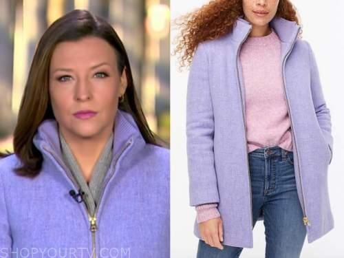 mary bruce, purple coat, good morning america