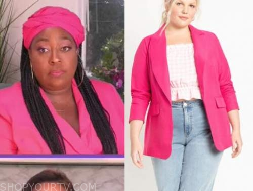 loni love, the real, hot pink blazer