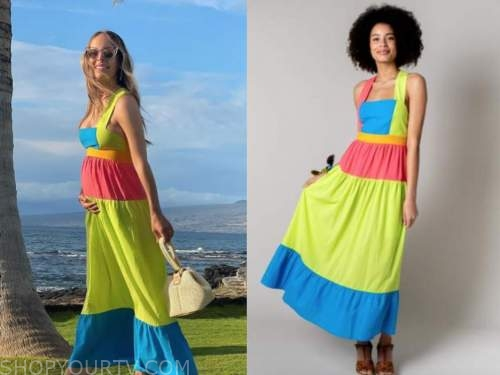 lilliana vazquez, instagram, colorblock dress