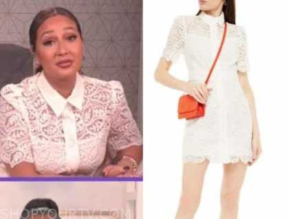 adrienne bailon, the real, white lace dress