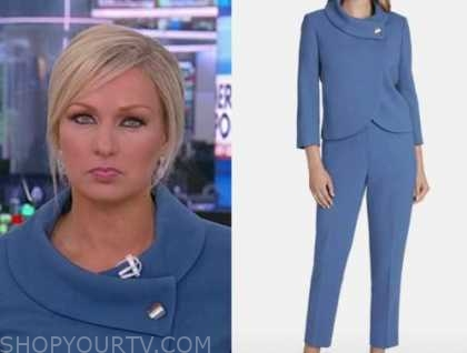 sandra smith, america reports, blue wrap jacket and pant suit