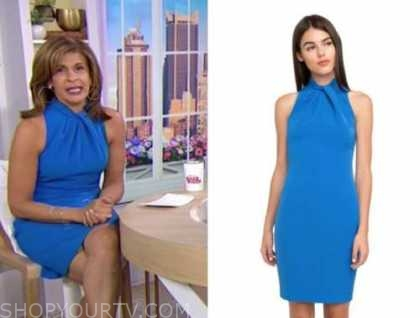hoda kotb, the today show, blue halter dress
