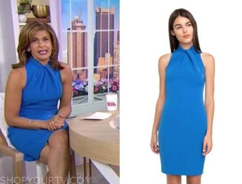hoda kotb, the today show, blue halter dress