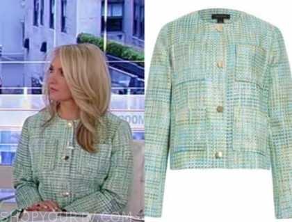 dana perino, america's newsroom, green tweed jacket