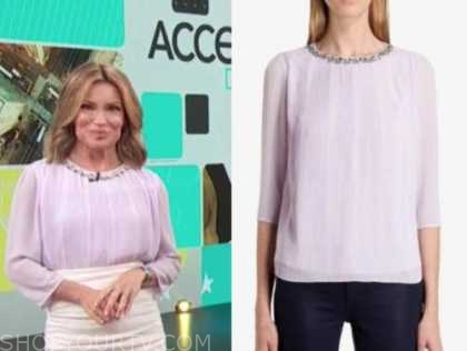 kit hoover, access daily, access hollywood, purple embellished trim top